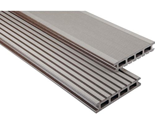 Konsta WPC Terrassendiele Primera schokobraun gebürstet 26x145x4000 mm
