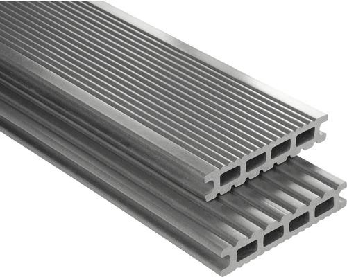 Konsta WPC Terrassendiele Futura grau glatt 26x145x6000 mm