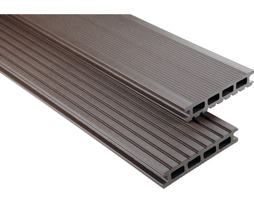 Konsta WPC Terrassendiele Primera schokobraun mattiert 26x145x6000 mm