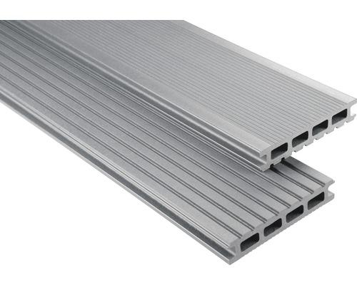Konsta WPC Terrassendiele Primera grau mattiert 26x145x4000 mm