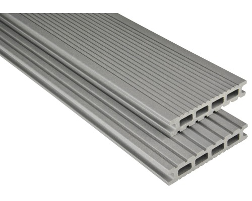 Konsta WPC Terrassendiele Futura grau mattiert 26x145x5500 mm