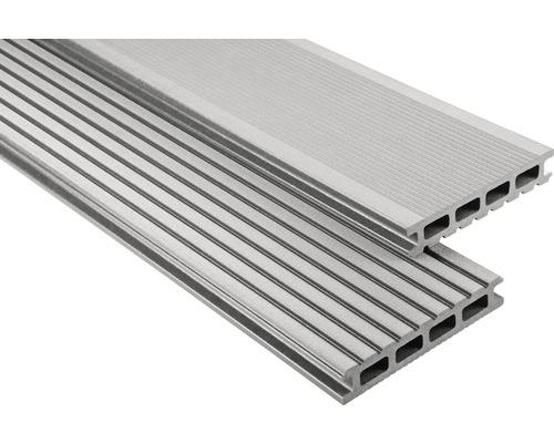 Konsta WPC Terrassendiele Primera grau gebürstet 26x145x5500 mm