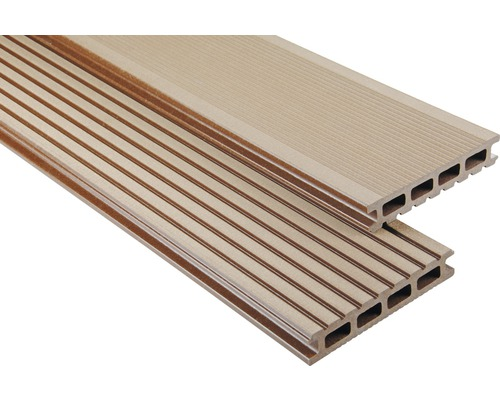 Konsta WPC Terrassendiele Primera braun gebürstet 26x145x4000 mm