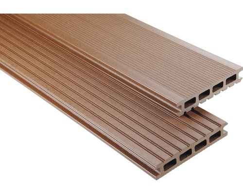 Konsta WPC Terrassendiele Primera braun mattiert 26x145x5500 mm