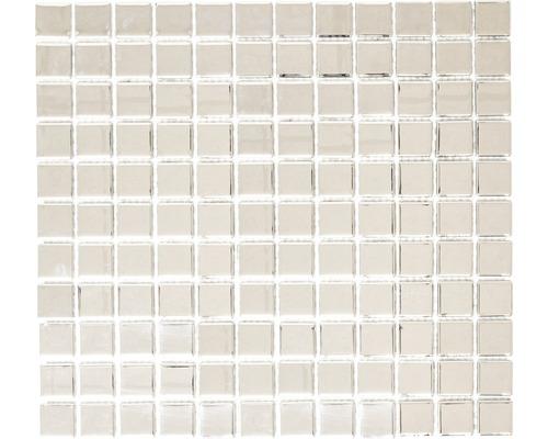Glasmosaik CM 4S B2 mix silber 30,2x32,7 cm