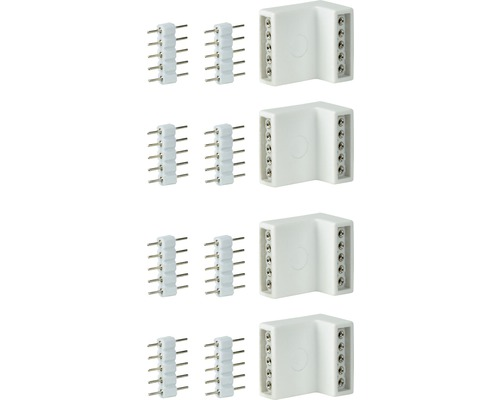 MaxLED Eckverbinder 4/8 Stück weiß 24V