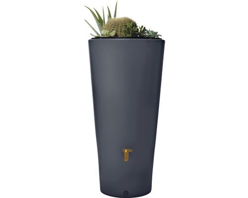 Regenspeicher 4 rain Vaso 2in1 mit Pflanzschale, 220 Liter, grau