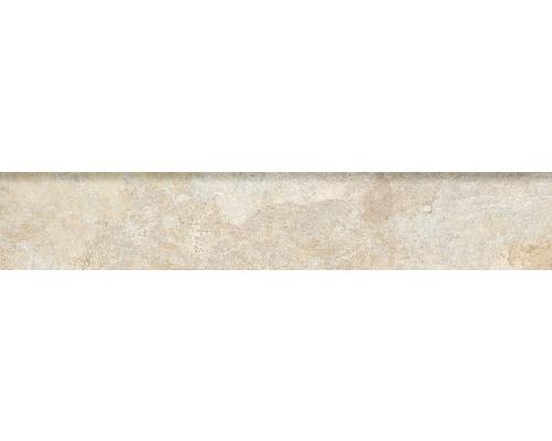 Steinzeug Sockelfliese Ardesia 8x45 cm Almond