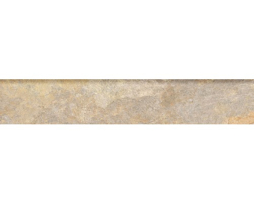 Steinzeug Sockelfliese Ardesia 8x45 cm ocre