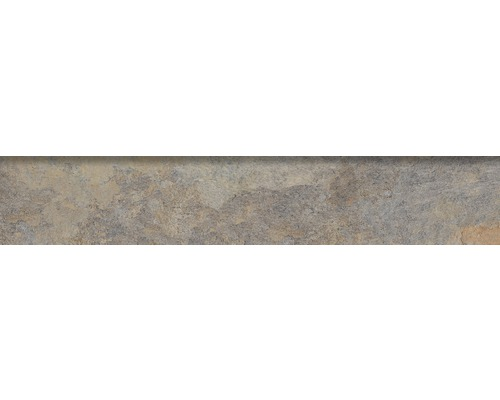 Steinzeug Sockelfliese Ardesia 8x45 cm gris