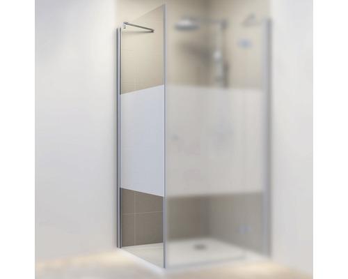 Seitenwand für Drehtür Schulte MasterClass 90 cm Anschlag links Dekor Dezent Profilfarbe chrom