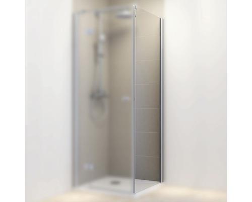 Seitenwand für Drehtür Schulte MasterClass 90 cm Anschlag rechts Klarglas Profilfarbe chrom