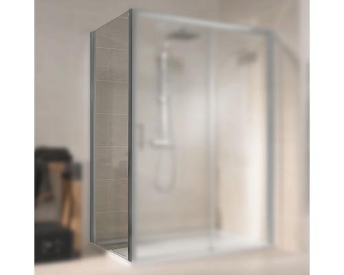 Seitenwand für Schiebetür Schulte Kristall/Trend Breite 90 cm Klarglas Profilfarbe aluminium