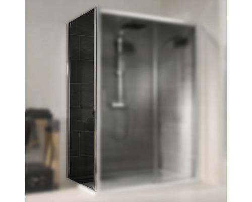 Seitenwand für Schiebetür Schulte Kristall/Trend Breite 90 cm Dekor Grau Anthrazit Profilfarbe chrom