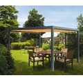 Pavillon Grau 400 x 600 cm Design 0867 orange ohne Senkrechtmarkise
