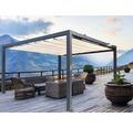 Pavillon Grau 500 x 300 cm Design 6020 beige ohne Senkrechtmarkise