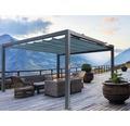 Pavillon Grau 500 x 400 cm Design 7558 petrol ohne Senkrechtmarkise