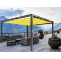 Pavillon Grau 500 x 300 cm Design 7703 gelb ohne Senkrechtmarkise