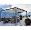 Pavillon Grau 500 x 400 cm Design 320923 grau ohne Senkrechtmarkise