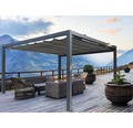 Pavillon Wismar 300 x 600 cm Dessin 320925 grau ohne Senkrechtmarkise
