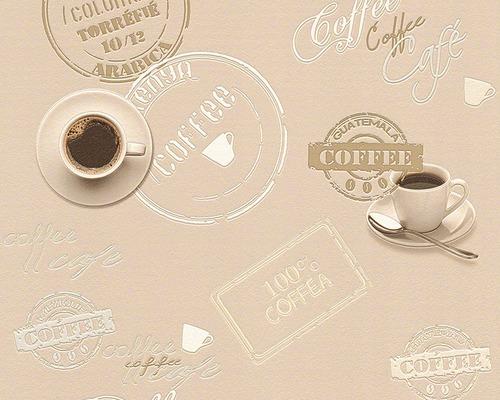 Vinyltapete 94308-2 Faro 4 Kaffetasse beige