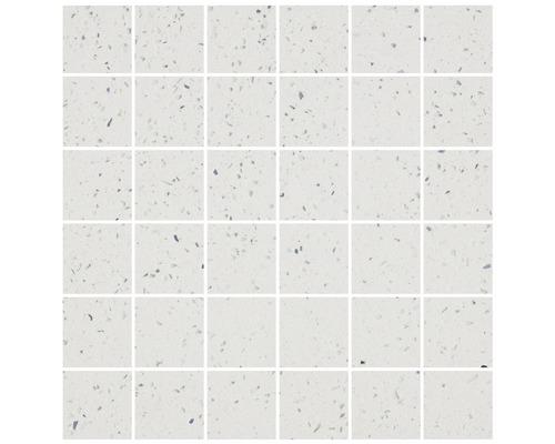 Quarzstein Mosaik weiß 30x30cm