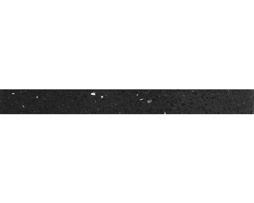 Quarzstein Sockel schwarz 60x6x1cm