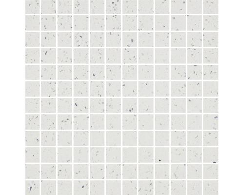 Quarzstein Mosaik weiß kleine Steinchen 30x30cm
