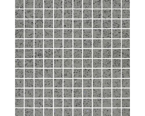 Quarzstein Mosaik grau kleine Steinchen 30x30cm