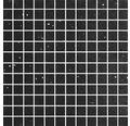 Quarzstein Mosaik schwarz 30x30cm