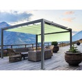 Pavillon Grau 500 x 400 cm Design 7557 grün mit Senkrechtmarkise