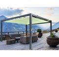 Pavillon Grau 500 x 500 cm Design 7557 grün ohne Senkrechtmarkise