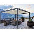 Pavillon Grau 500 x 500 cm Design 320930 beige ohne Senkrechtmarkise