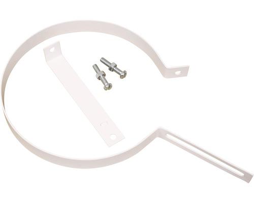 Rohrhalter Ø150 mm weiß