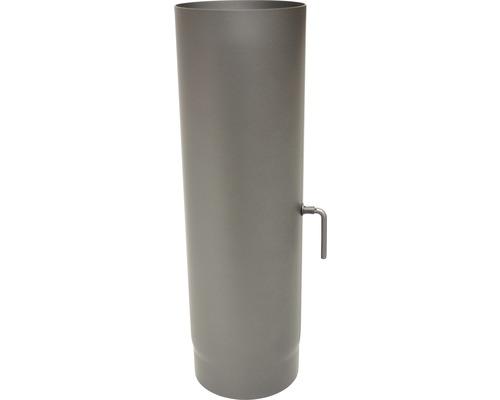 Ofenrohr Ø150 mm mit Sperre 0,5m gußgrau