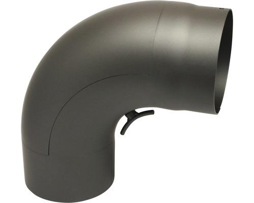 Ofenrohr-Bogen 90° Ø150mm mit Tür senotherm lackiert gußgrau