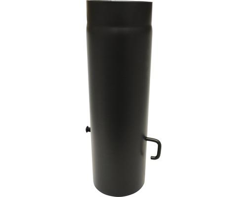 Ofenrohr mit Sperre Ø130 mm 0,5m senotherm lackiert schwarz metallic