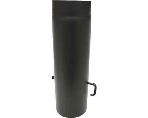 Ofenrohr mit Sperre Ø150 mm 0,5m senotherm lackiert schwarz metallic