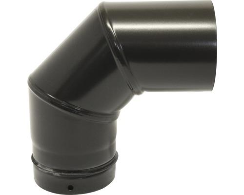 Pellet-Ofenrohr-Bogen Ø100 mm 90° ohne Tür schwarz