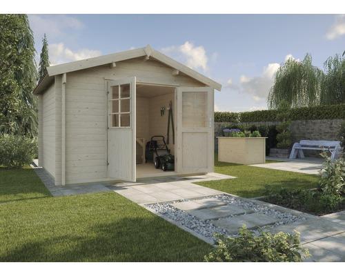 Gartenhaus weka 132A Gr.3 mit Fußboden 300 x 300 cm natur