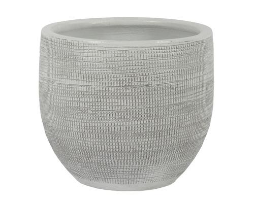 Blumentopf Le Havre Keramik Ø 29 H 26 cm weiß grau