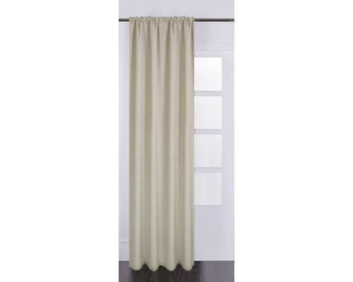 Vorhang mit Universalband Silk off taupe 130x280 cm