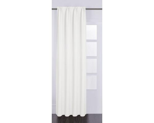 Vorhang mit Universalband Canvas weiß 140x280 cm
