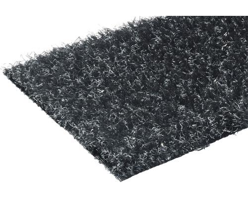 Kunstrasen Lyon mit Drainage schwarz 400 cm breit (Meterware)