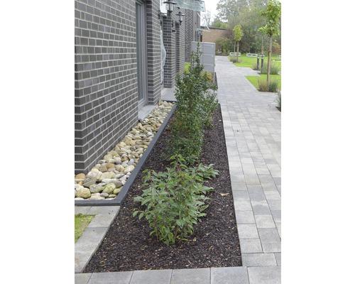 Rasenbordstein anthrazit beidseitig gefast 100 x 25 x 6 cm