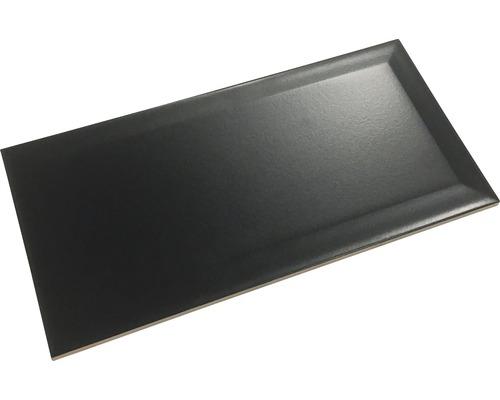 Metro-Fliese mit Facette NEGRO schwarz matt 10 x 20 cm
