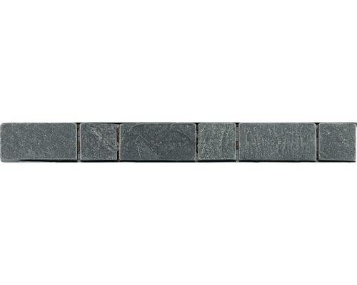 Natursteinbordüre grau 3,3x30,5 cm