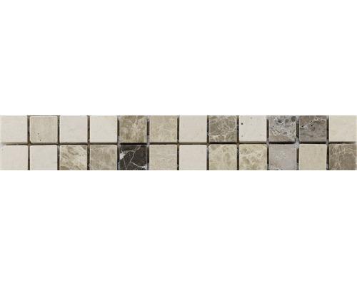 Natursteinbordüre weiß 5x30 cm