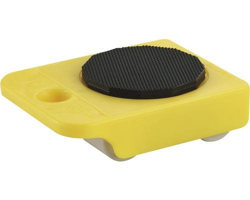 Porter Kunststoff mit PU-Rad bis max. 150 kg, 105x75x35 mm