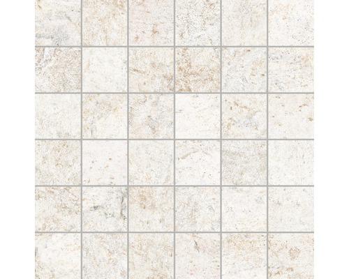 Mosaikfliese Quarzite Blanco 30x30 cm